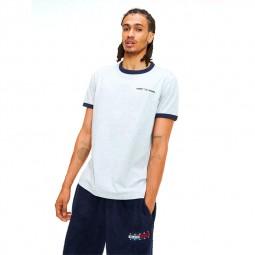 T-shirt Tommy Hilfiger manches courtes gris