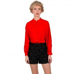 Top longues col montant Molly Bracken rouge