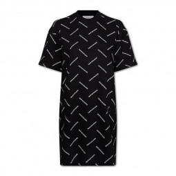 Robe imprimé logo Calvin Klein noir