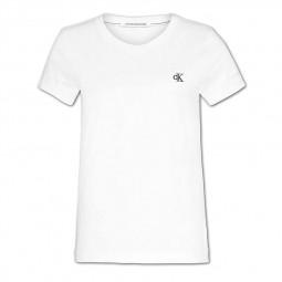 T-Shirt slim Calvin Klein blanc