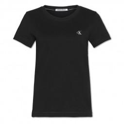 T-Shirt slim Calvin Klein noir