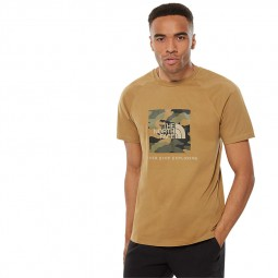 T-shirt manches raglan The North Face beige foncé