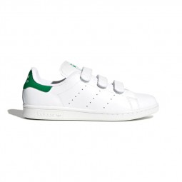 Adidas Stan Smith velcro blanches et vertes