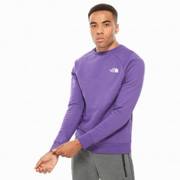 Sweat manches longues raglan The North Face violet blanc