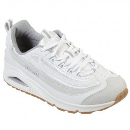 Chaussures Skechers femme Uno Roundabout blanches