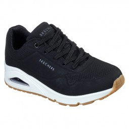 Chaussures Skechers femme Uno Stand On Air noires