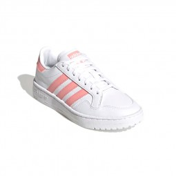 Adidas Team Court J blanc & rose
