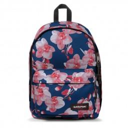 Sac à Dos Eastpak Out of Office Charming Pink bleu marine à fleurs roses