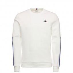 Sweat Le Coq Sportif Tricolore blanc écru