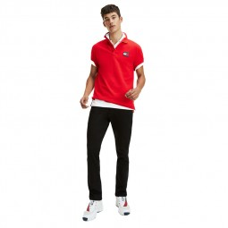 Polo Tommy Jeans badge rouge