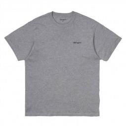 T shirt Carhartt Script Embroidery gris chiné