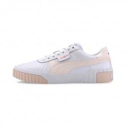 Chaussures Puma Cali blanc rose