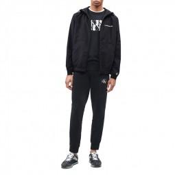 Veste coupe-vent Calvin Klein noir blanc