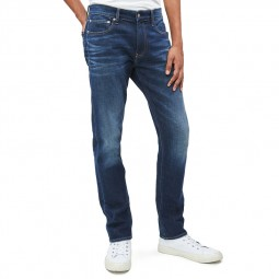 Jeans slim homme Calvin Klein bleu foncé délavé