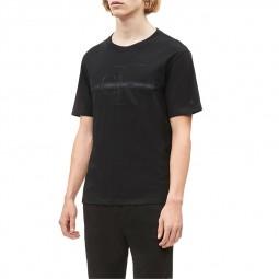 T-shirt Calvin Klein noir logo brodé