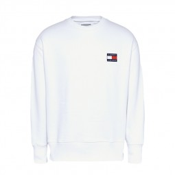 Sweat Tommy Jeans col rond blanc