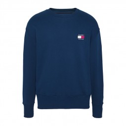 Sweat Tommy Jeans col rond bleu marine