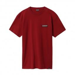T-shirt Napapijri Sase bordeaux