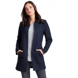 Manteau coatigan Only Soho bleu marine chiné