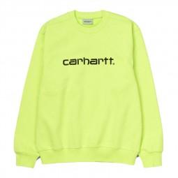 Sweat Carhartt jaune fluo