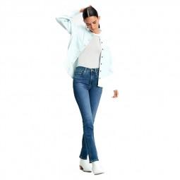 Jeans Levi's 724 bleu délavé
