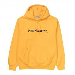 Sweat à capuche Carhartt jaune