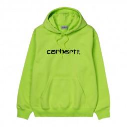 Sweat à capuche Carhartt vert citron