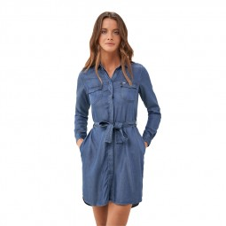 Robe chemiser Salsa bleu jean