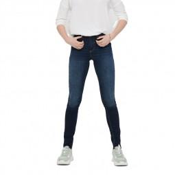 Jeans Only skinny Blush taille moyenne bleu foncé délavé