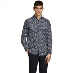 Chemise à pois Jack & Jones Blackpool bleu marine