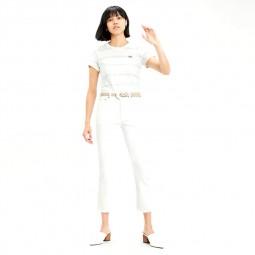 Jean Levi's 501 Crop Jeans blanc