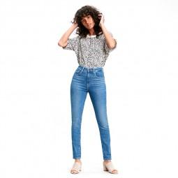 Jeans Levi's 721High Rise bleu clair délavé