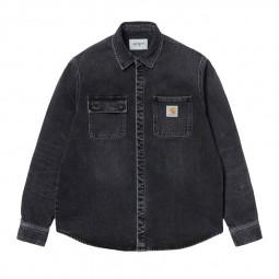Chemise en jean Carhartt noir délavé