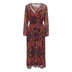 Robe longue Only à motifs multicolore