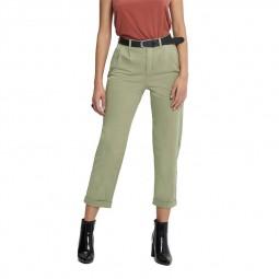 Pantalon taille haute Caroline Only kaki