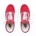Chaussures Vans Old Skool rouges et blanches