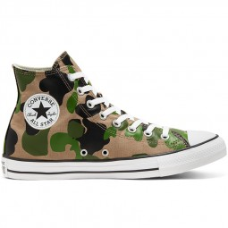 Converse toile montante camouflage