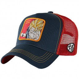 "Casquette Capslab Dragon Ball Z ""Super Saiyan"" bleu rouge"
