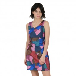 Robe courte sans manches Lili Sidonio multicolore cubiste