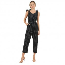 Combinaison pantalon Molly Bracken noire motifs