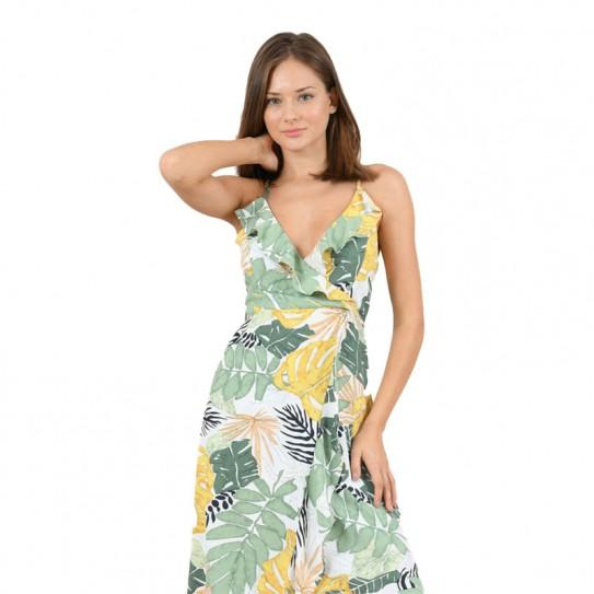 Robe longue imprimé tropical Molly Bracken
