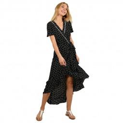 Robe longue portefeuille Molly Bracken noire
