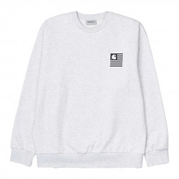 Sweat col rond Carhartt WIP State Chromo gris chiné