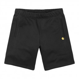 Short Carhartt WIP Chase Sweat Short noir