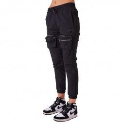 Pantalon treillis femme Project X Paris noir