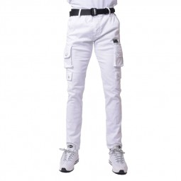 Treillis pantalon cargo Project X Paris blanc