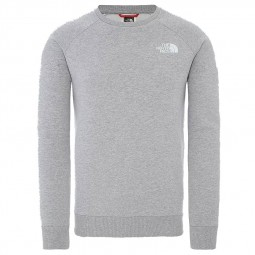 Sweat manches longues raglan The North Face gris clair