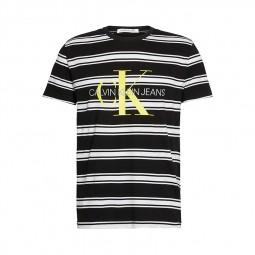 T-shirt Calvin Klein rayures noir blanc