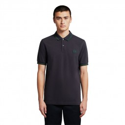 Polo Fred Perry M3600 bleu marine / lierre / lierre
