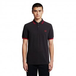 Polo Fred Perry M3600 noir / rouge / roouge